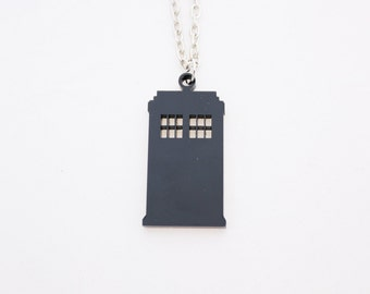 TARDIS small necklace