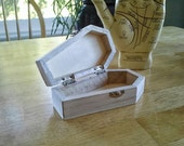 SALE! Wooden Coffin Box Unfinished for Art Projects Day of the Dead Halloween