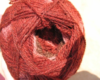 Brown Burgundy Red Mauve Kauni ER 2 ply wool sport weight yarn. Knit Crochet and Felt. Imported from Denmark. Ships from USA