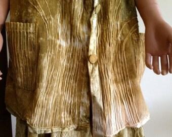 Women's Hand-Dyed Vest, Art to Wear, Rustic Wedding