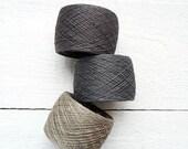 Natural Linen Yarn, linen thread, natural linen, linen, grey, Lithuania linen