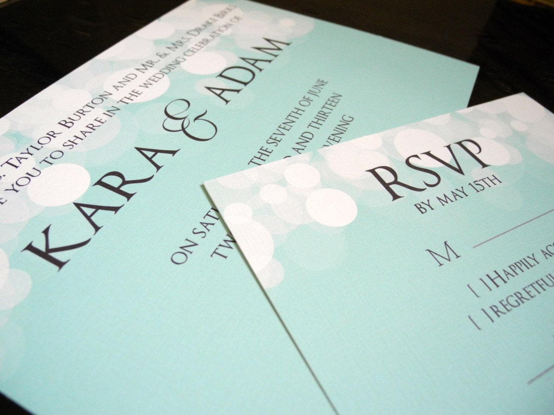 Wedding Invitations Tiffany Blue: DIY Printable Tiffany Blue Wedding Invitation By