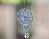 Teal Dreamcatcher Necklace