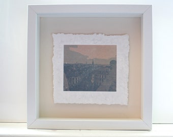 Digital photograph on fine bone china with a paper looking texture - ''Hallepoort N''