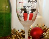 Funny dishwasher safe holiday wine glass