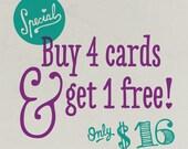 Buy 4 Get 1 Free