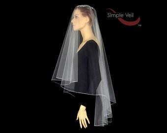 70 inch Drop Veil style Bridal Veil, Pencil Edge