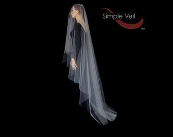 110 inch Drop Veil, Cut Edge