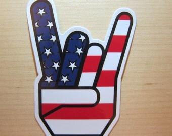 Rock n Roll American Sticker, 100% Waterproof Vinyl Sticker, Pop Culture Transparent Sticker