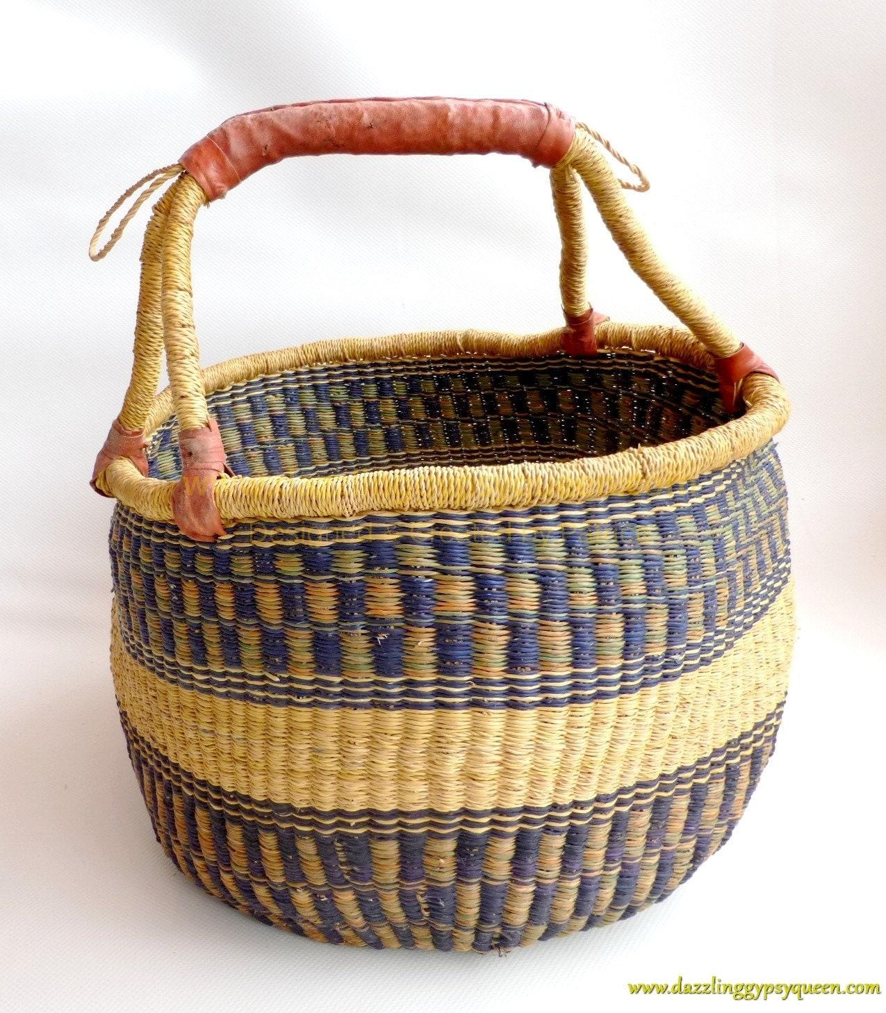 Market Basket African Woven Market Basket By