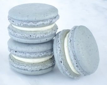 Cookie Wedding Favors French Macaron Cookies 12 Earl Grey Macaroons Gift Splendid Sweet