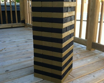 "Tumbling Timbers ""Larger"" Tower Handmade from new solid wood STAINED in your choice of colors"