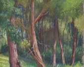 """Original Pastel Landscape Painting - """"Shady Grove"""" by Colette Savage"""