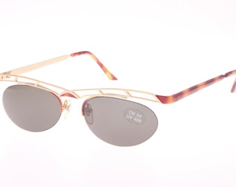 Apparenze made in Italy ladies crazy hype architecture browline sunglasses NOS  & Labeled 1980s