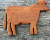 Rustic Cow Wooden Primitive Decor Farmhouse Country