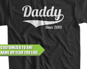 Daddy Since (ANY YEAR) Dad To Be Gifts For Dad Christmas Gift For Dad Father Fathers Day Tshirt T-Shirt Tee Shirt Mens Kids Geek Funny