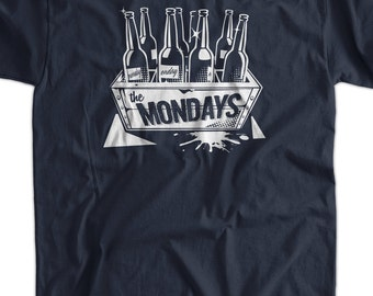 Funny Beer T-Shirt Case Of The Mondays T-Shirt Gifts for Dad Screen Printed T-Shirt Tee Shirt Mens Ladies Womens Youth Kids