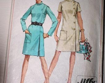 "Vintage 1960s Simplicity ""Jiffy"" dress pattern 7850"