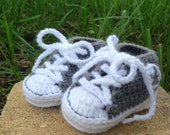 Gray Crochet Converse Booties