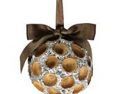 Small Acorn Cap Sparkle Ornament