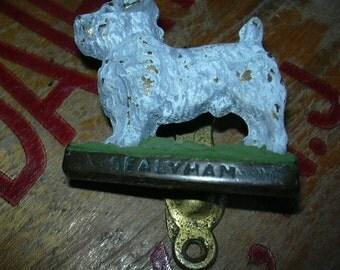 ON SALE Vintage door knocker, dog
