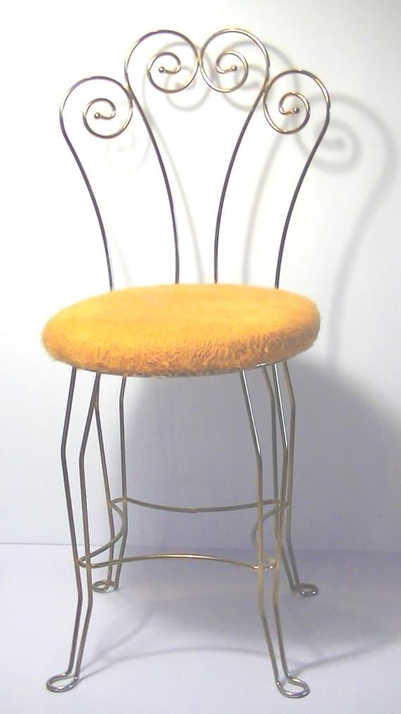 Vintage Vanity Stool Chair Seat