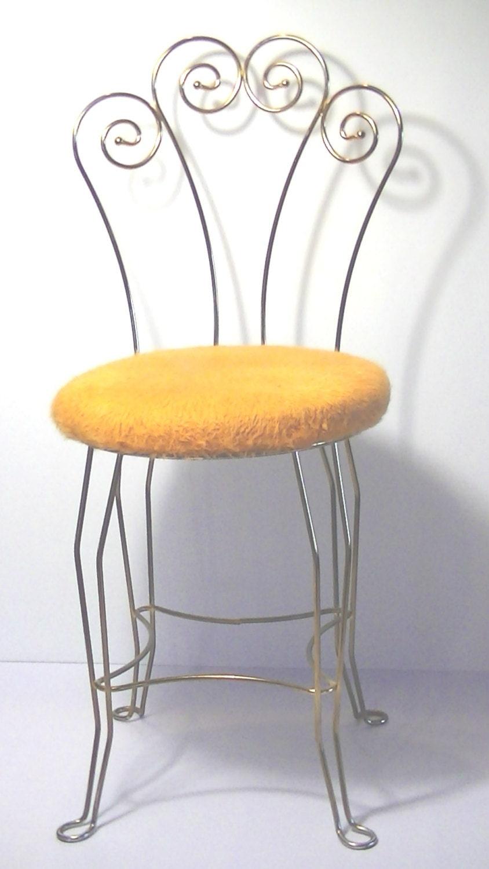 Vintage vanity stool chair seat - Antique vanity stools ...