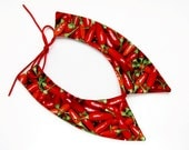Red Chili Pepper Peter Pan Collar, Kawaii Detachable Necklace