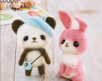 Painter Panda & Bunny Needle Felting Kit