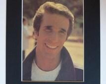 1979 Vintage Happy Days Print - Fonzie Picture - Fonz Photograph - Retro 1970s Cool Dude - Biker - Sit On It - Henry Winkler - 1950s Diner