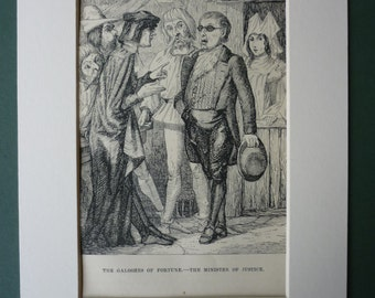 1877 Antique Print Of The Galoshes Of Fortune - Hans Christian Andersen - Minister of Justice - Antique Lawyer - Danish Folk Tale - Folklore