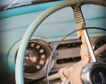 Broken Window - Chevy BelAir - Rustic Wall Art - Classic Car Art Prints - Retro Print - Vintage Car Photography - Garage Art - 8x10