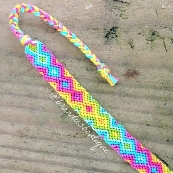 Zig Zag Jewellery: Rainbow Zig Zag Friendship Bracelet