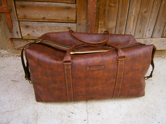 Travel Bag, Handmade Travel Bag, Business travel Bag, Leather Office Travel Bag, Custom size travel bag, Leather Luggage