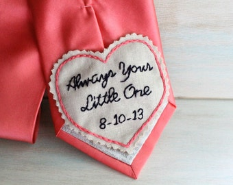 Father of the Bride Gift.  Hand Embroidered Tie Patch. Father of the Bride. Tie Patch. Gifts for Dad. Necktie. Father of the Bride Gifts.