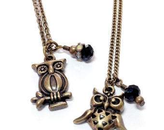 Striped and Spotted Owl Necklaces