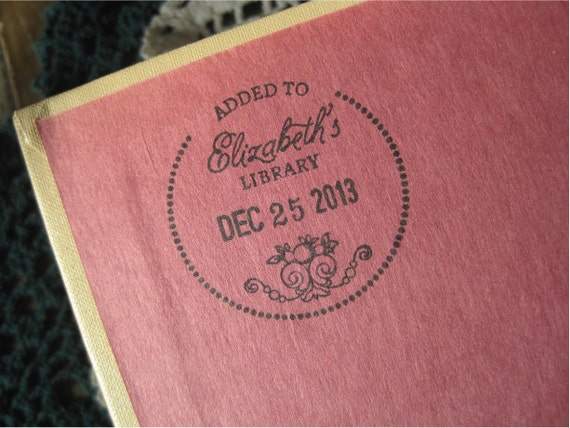 Custom Dated Book Stamp