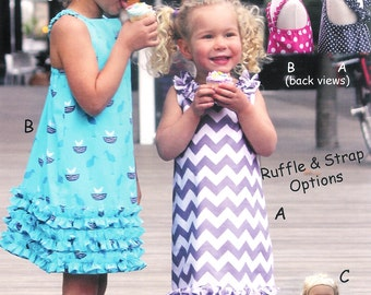 "Pattern ""Party 'n Play"" Dress & Doll dress Paper Sewing Pattern by Olive Ann Designs (OAD78)"