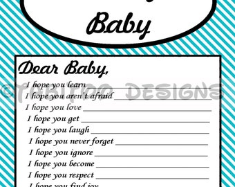 Wishes for Baby - Baby Shower - PRINTABLE