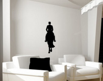Horse- Large Dresssage Horse-wall decal -Approx.22 x 60 inches,802-HS.