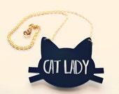 Cat Jewelry // Cat Lady Necklace // Cat Necklace