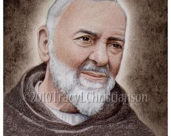 St. Padre Pio (A) 8x10 Print Catholic Patron Saint #4148