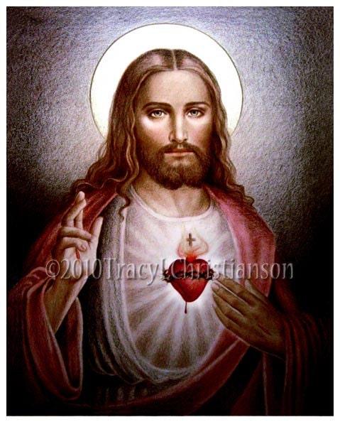 The Sacred Heart Of Jesus B Catholic Art Print Free Shipping