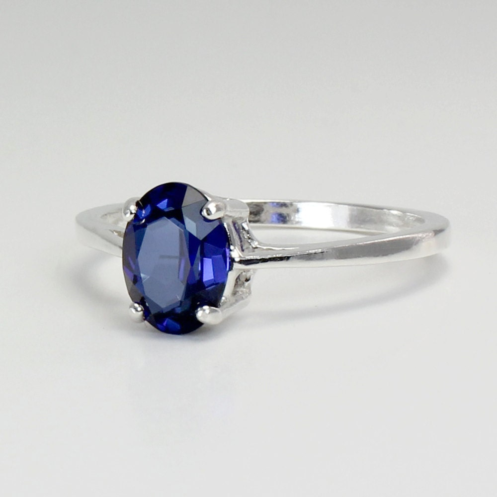 blue sapphire ring sterling silver blue sapphire ring silver
