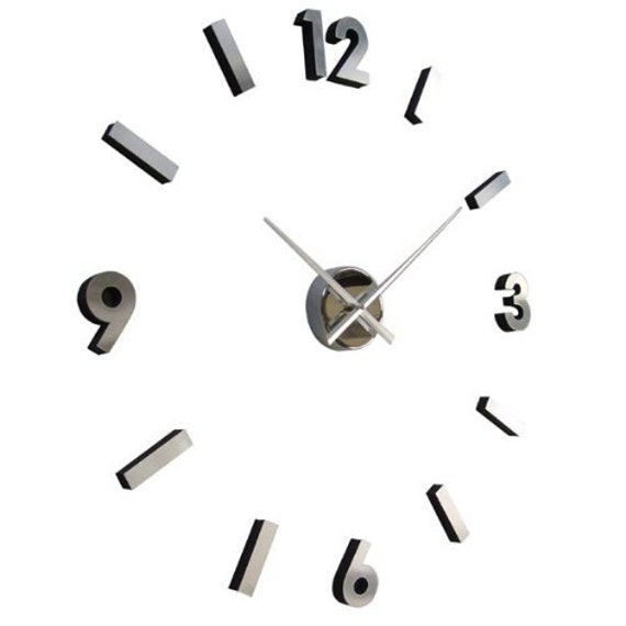 Items Similar To Modern Wall Clock Numbers With Polished