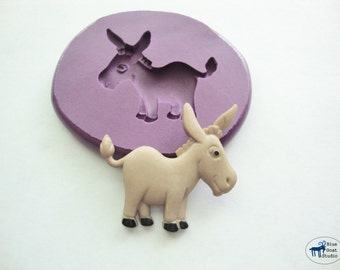 Donkey Mold - Farm Animal Mold - Silicone Mold - Polymer Clay Resin Fondant