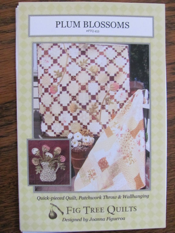 Plum blossoms fig tree quilt pattern by onceuponanheirloom for Front door quilt pattern