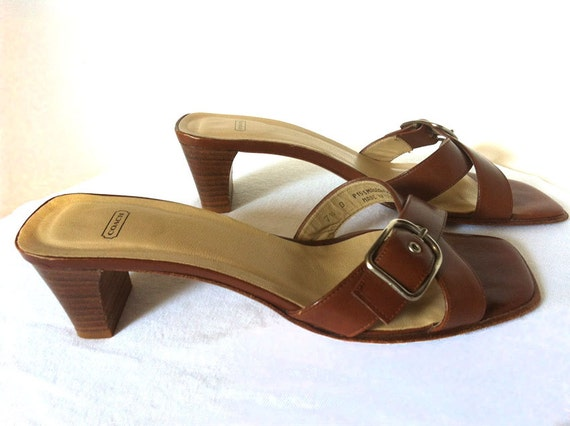 Coach Strapless Sandals Ladies Size 7 5 B Made In Italy