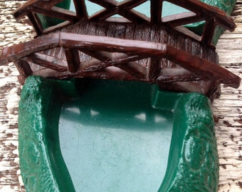 Vintage 50s Plasticville Bridge & Pond With Original Box, Christmas Tree Decorations