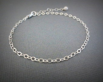 "Sterling Silver Bracelet- 7"" Finished Bracelet-Make your own Bracelet-Everyday Bracelet-Gift for Best Friends-Friendship Gift"